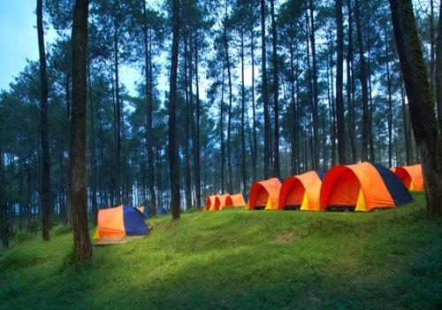 tenda camping ground area - terminal wisata grafika cikole - tempat wisata lembang bandung jawa barat 1